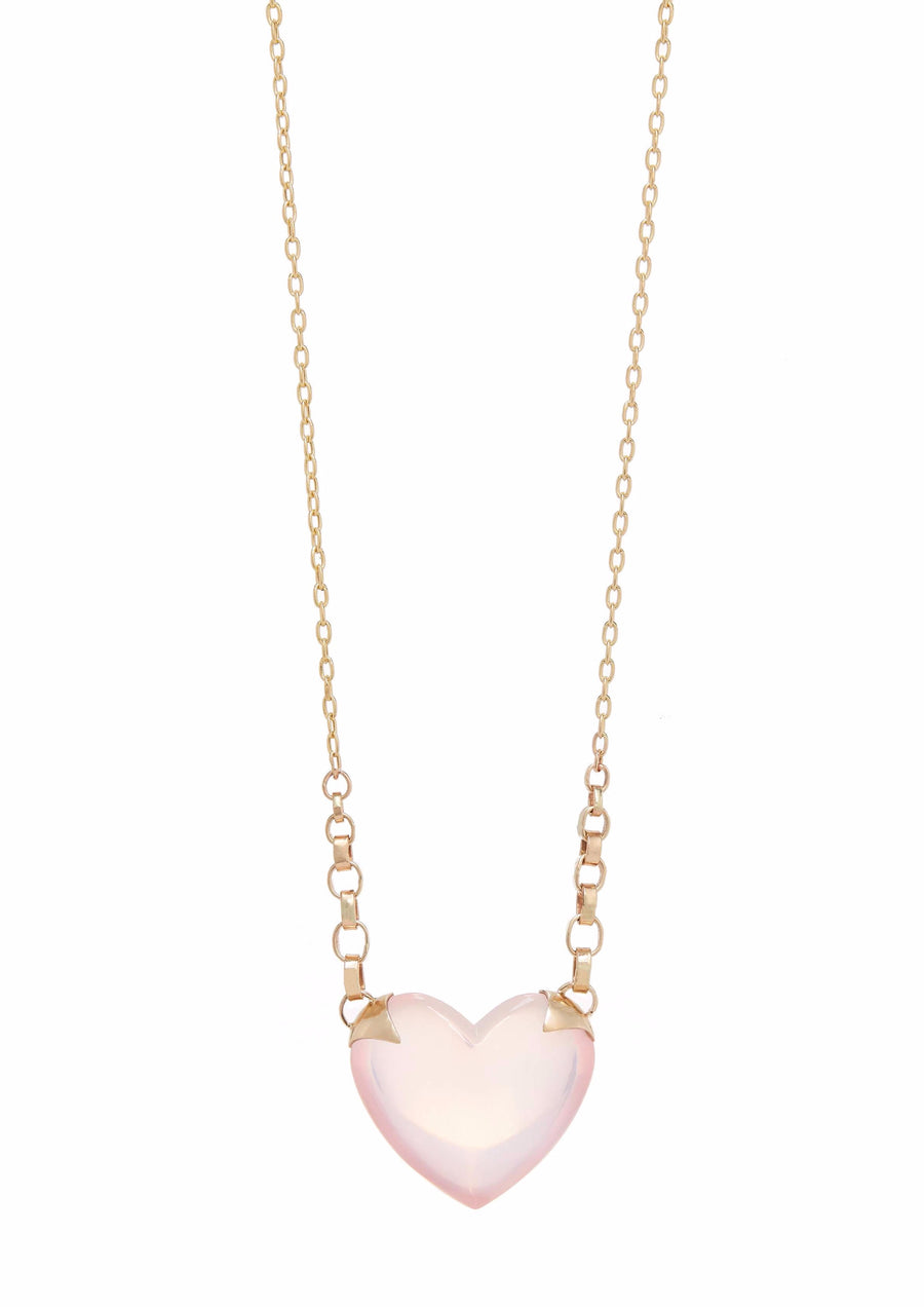 Shackled Rose Quartz Heart Necklace