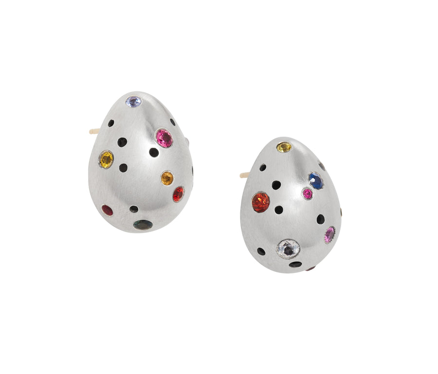 Rainbow Speckled Egg Studs