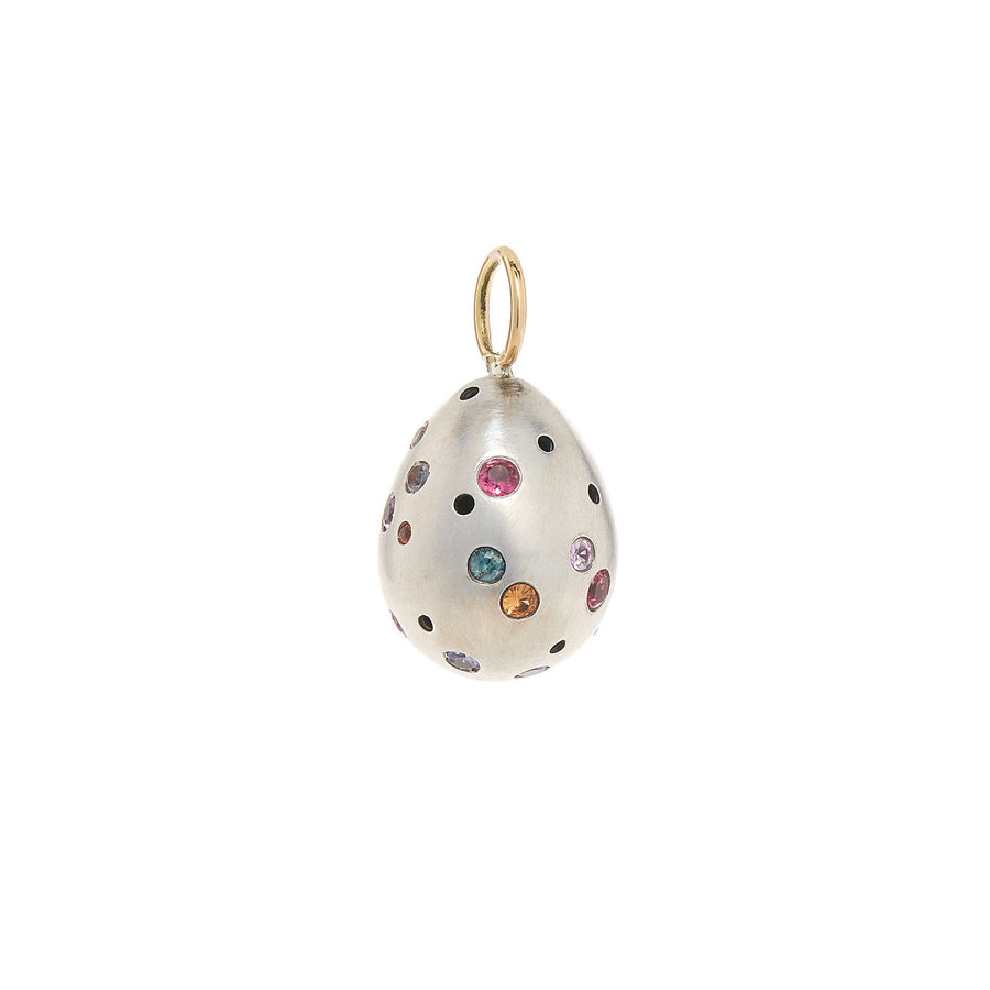 Rainbow Speckled Egg Charm