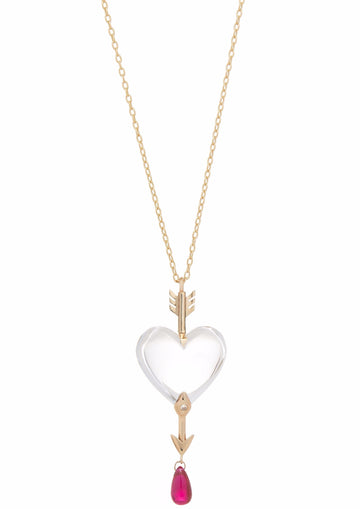 Through the Heart Quartz Necklace