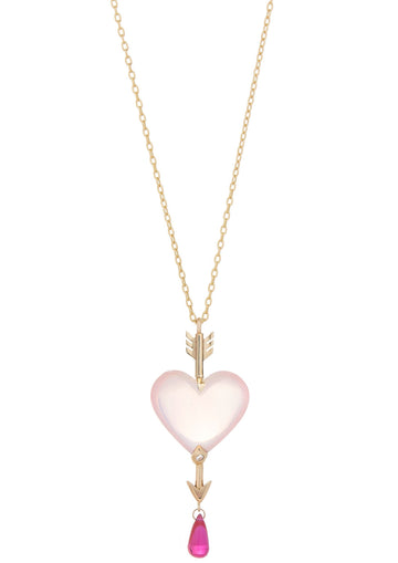 Through the Heart Rose Quartz Necklace