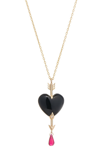 Through the Heart Onyx Necklace