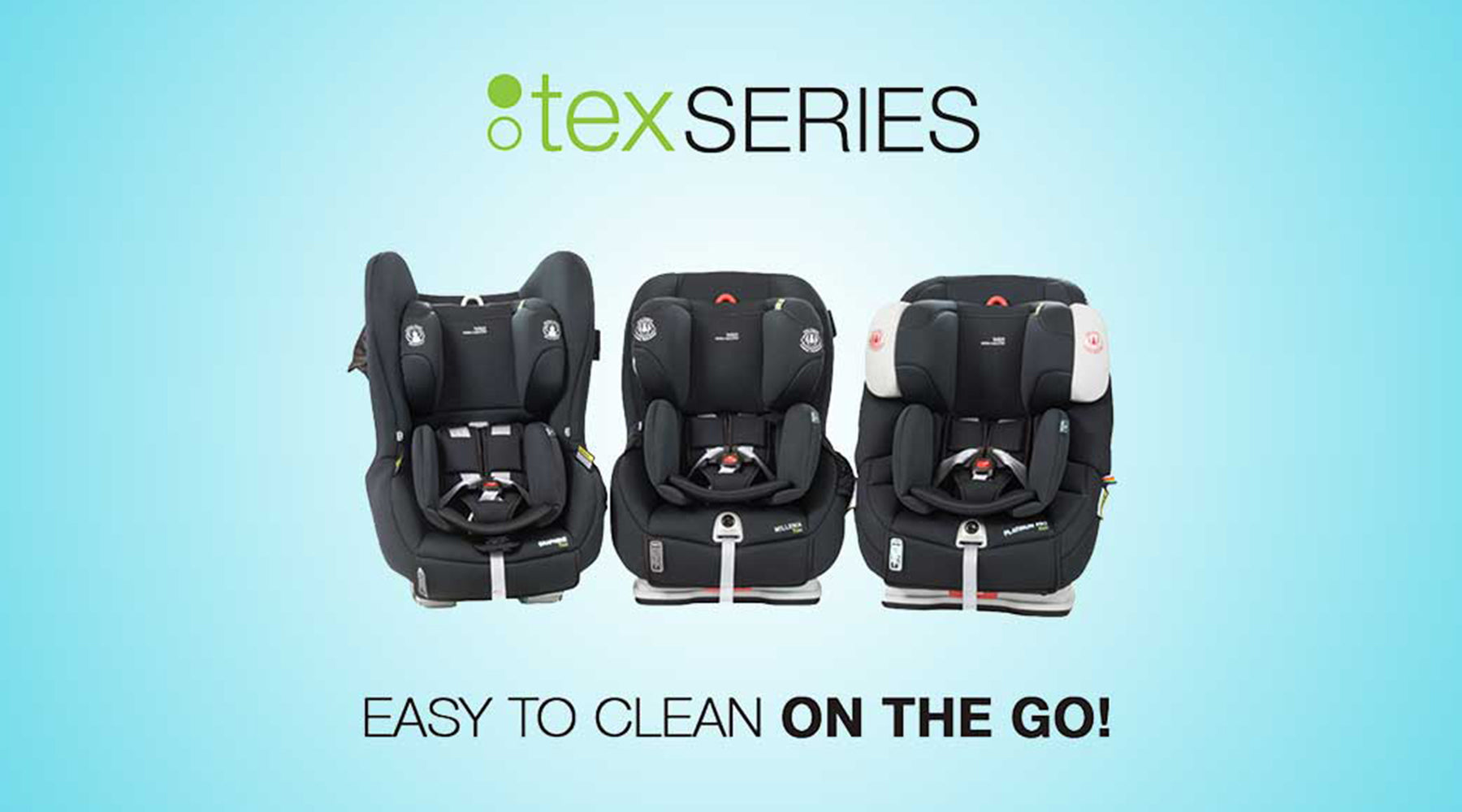 Britax Safe-n-Sound Tex Series - Easy to Clean on The Go