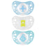 Chicco Soother Physio Air Silicone Blue 0-6m 2 Pack
