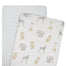 Living Textiles 2 Pack Cradle/Co-sleeper Fitted Sheets Savanna Babies