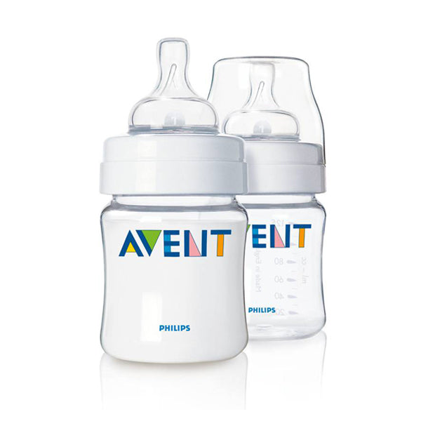 Avent Classic+ Anticolic 125ml Feeding Bottle 2 Pack