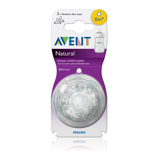 Avent Natural 0 Months+ Teat 2 Pack
