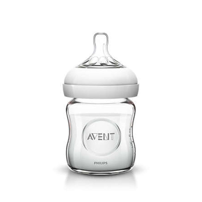 Avent Natural 120ml Feeding Glass Bottle