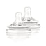 Avent Natural 3 Months+ Variable Flow Teat 2 Pack
