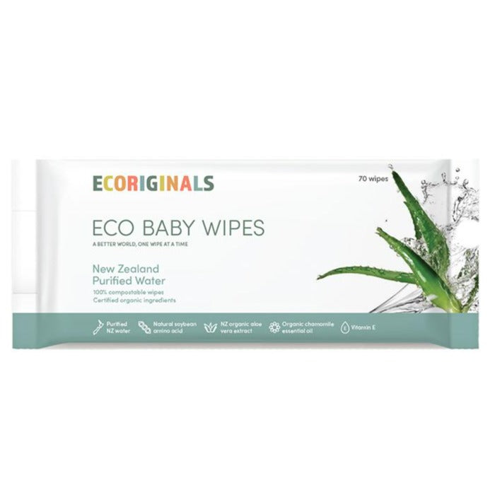 Ecoriginals Baby Wipes New Zealand Purified Water