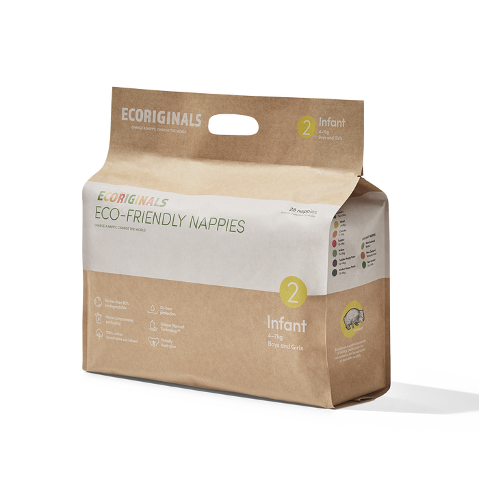 Ecoriginals Eco-Friendly Nappies - Infant (5-9kg)
