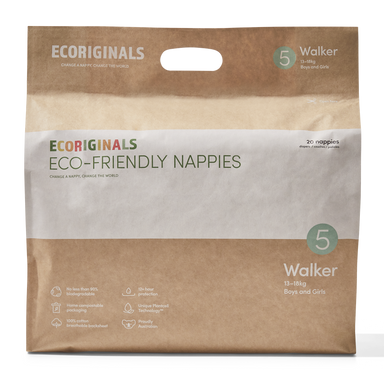 Ecoriginals Eco-Friendly Nappies - Walker (14-20kg)