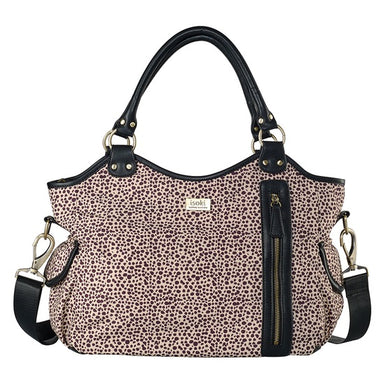 ISOKI Hobo Angel Nappy Bag San Remo Black Spots CLEARANCE