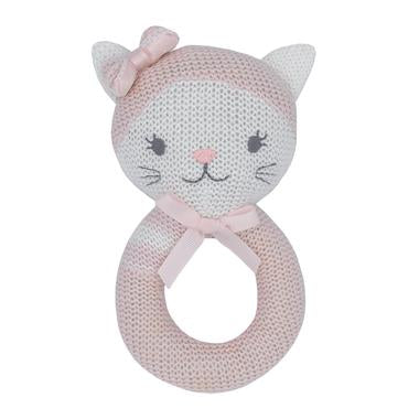 Living Textiles Knitted Rattle - Daisy the Cat
