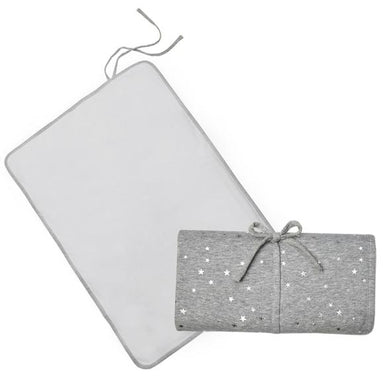 Living Textiles Travel Change Mat Silver Star