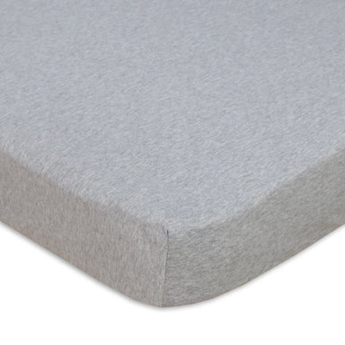 Living Textiles Cot Jersey Fitted Sheet Grey
