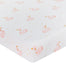 Living Textiles Cot Jeresy Fitted Sheet Swan Princess