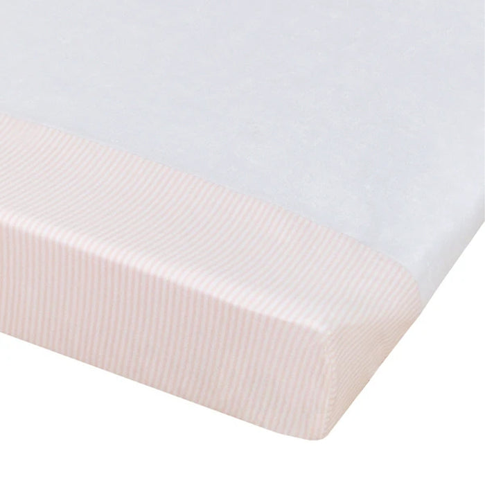 Living Textiles Change Pad Cover Pink Stripe