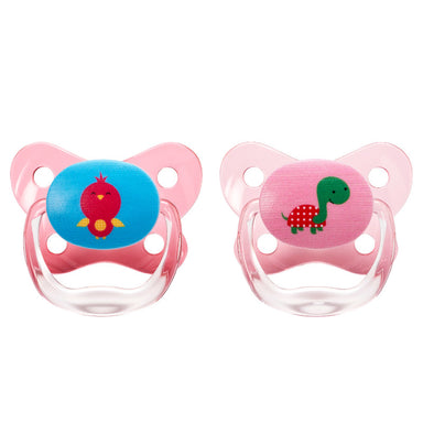 Dr Browns Prevent Contoured Pacifier 12 Months+ Pink 2 Pack