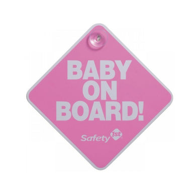 Safety 1st Baby On Board Sign Pink
