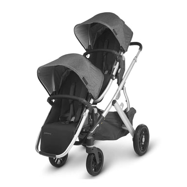 UPPAbaby VISTA V2 Pram TWIN Package + Upper & Lower Adapter Charcoal Melange (Jordan) + 200 VOUCHER