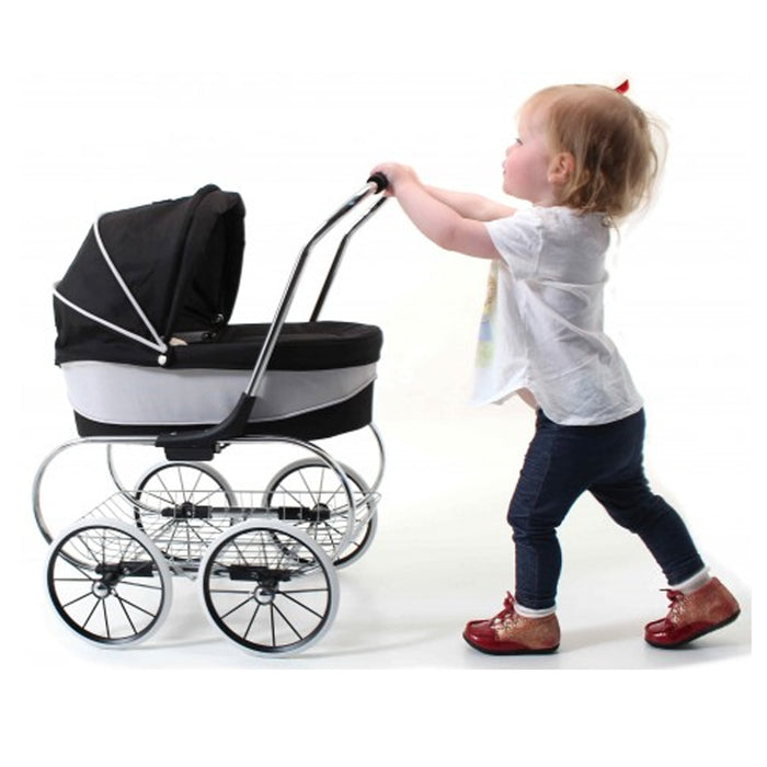 Valco Baby Princess Dolls Pram Raven Black