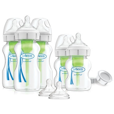 Dr Browns Options+ Wide Neck Newborn Feeding Bottle Set