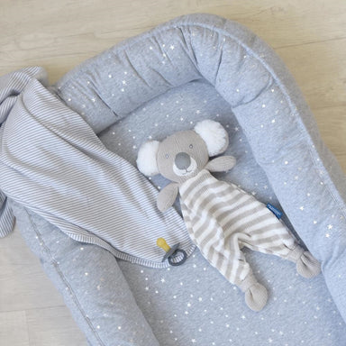 Living Textiles Baby Nest Silver Stars