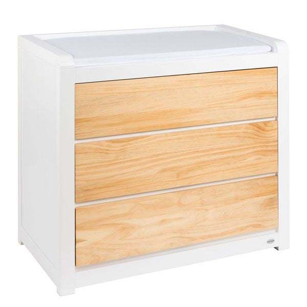Cocoon Luxe Dresser with Change Area White/Natural
