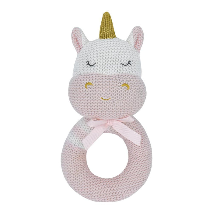 Living Textiles Knitted Rattle Kenzie The Unicorn