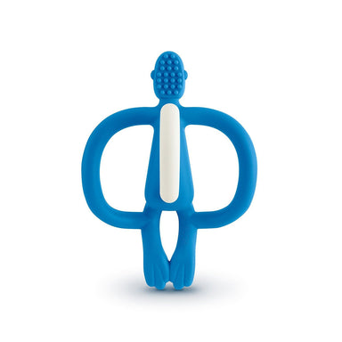 MatchStick Monkey Teething Toy And Gel Applicator Blue