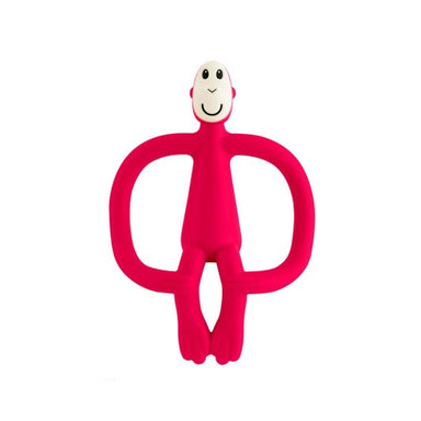 MatchStick Monkey Teething Toy And Gel Applicator Rubin Red