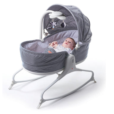 Tiny Love 3 in 1 Cozy Rocker Napper Heather Grey (With Hood)
