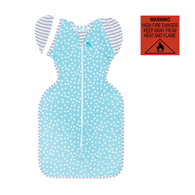 Love To Dream Swaddle Up Transition Suit 0.2 TOG Lite Extra Large 11-14kg Aqua