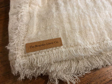 Load image into Gallery viewer, OPEN WEAVE LINEN TABLE RUNNER - ALABASTER