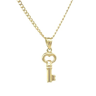 10 k Golden Key Charm /Chain set