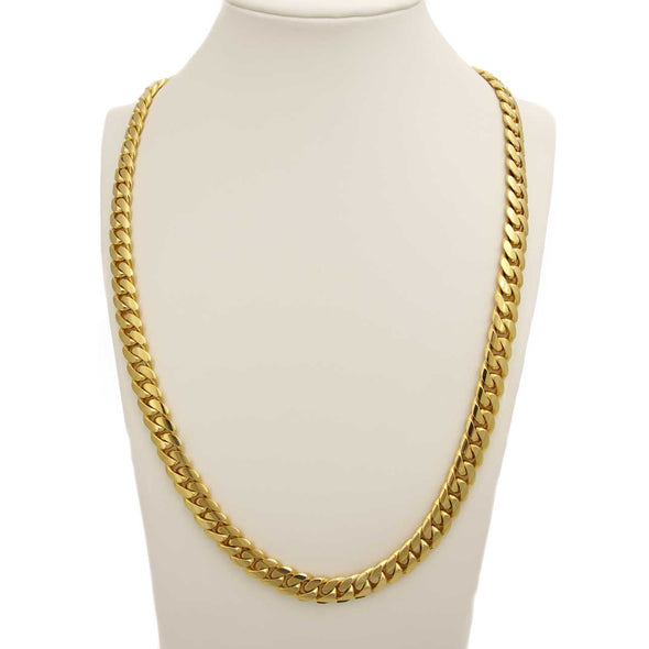 22 MM CUBAN LINK CHAIN (14k Gold over 999 Silver) HUGE