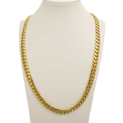 24 MM CUBAN LINK CHAIN (14k Gold over Pure 999 Silver) HUGE