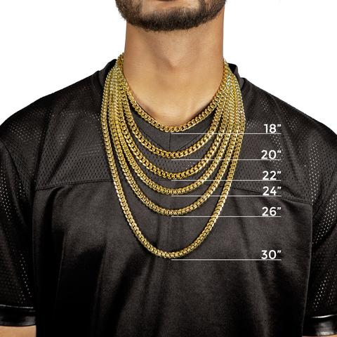 8 MM  CUBAN LINK CHAIN (10k Gold)