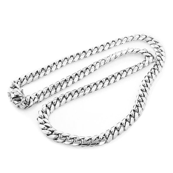 14 MM  Cuban Link Chain (Silver) BIG