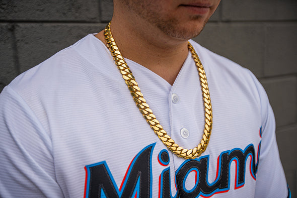 18 MM CUBAN LINK CHAIN (14k Gold ) REALLY BIG