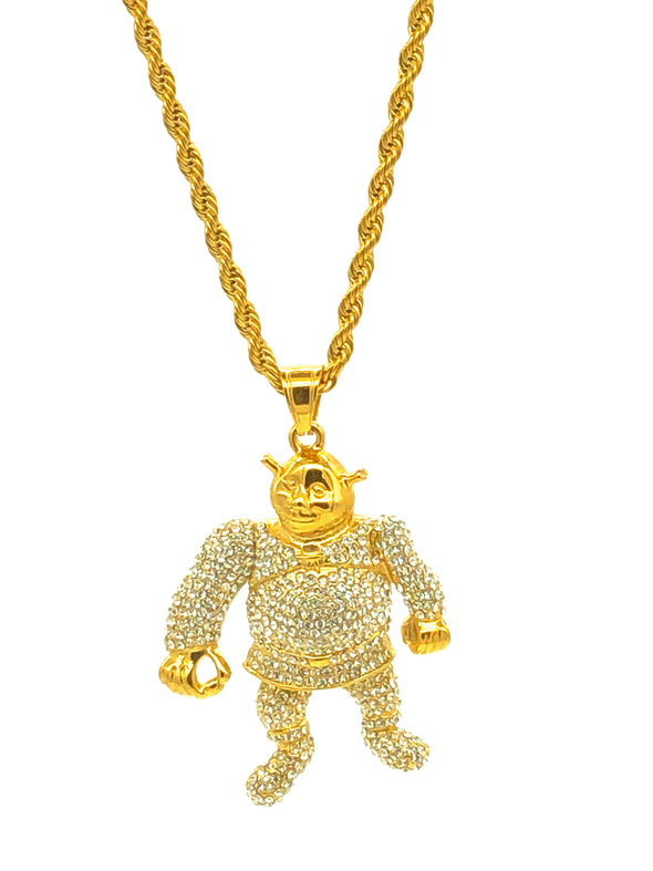 Iced Out Shrek with Rope Chain