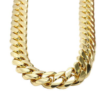 14 MM  CUBAN LINK CHAIN (10k Gold)