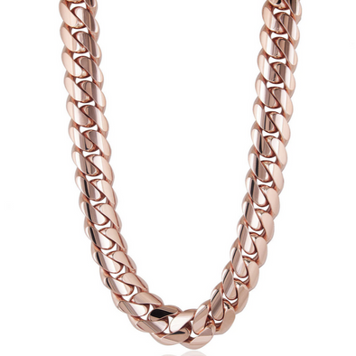 6 MM ROSE GOLD  CUBAN LINK CHAIN   (10k Gold)
