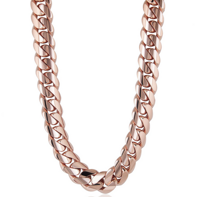 20 MM ROSE GOLD CUBAN LINK CHAIN (10k Gold)