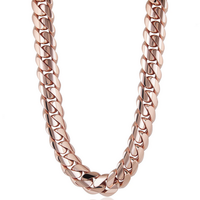 10 MM ROSE GOLD CUBAN LINK CHAIN (10k Gold)