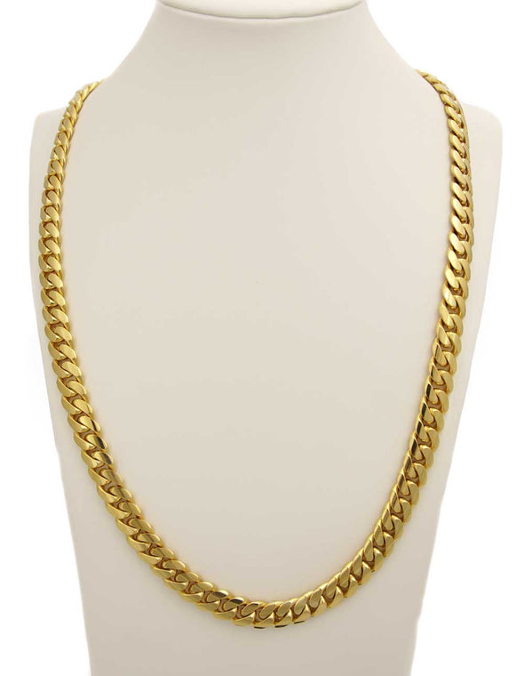 18 MM CUBAN LINK CHAIN (14k Gold over 999 Silver) REALLY BIG