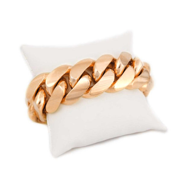 16 MM Rose Gold Cuban Link Bracelet (10k gold) BIGGER