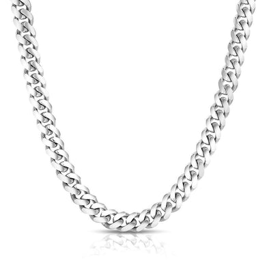 10 MM  Cuban Link Chain (Silver) MEDIUM