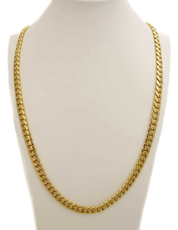 14 MM CUBAN LINK CHAIN (14k Gold over 999 Silver) BIG